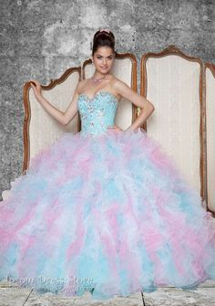 Ball Gown Sweetheart Neckline Floor length Sleeveless Tulle Quinceanera Dress with Beading (SAS412)