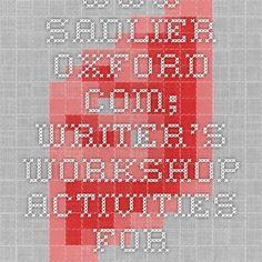 www.sadlier-oxford.com; writer's workshop activities for homework
