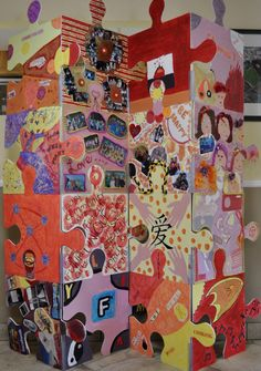 Collaborative Art Projects Elementary | puzzle art installation  collaborative project north salem elementary ...
