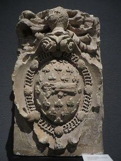 Armoiries de Montaigne (début XVIIe), Musée d'Aquitaine, cours Pasteur, Bordeaux, Gironde, Aquitaine, France.