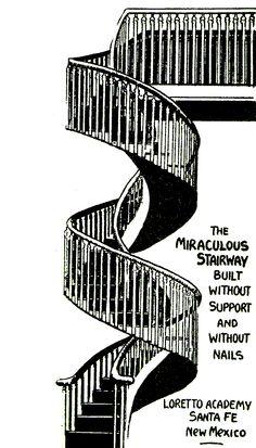 the miraculous stairway  Santa Fè
