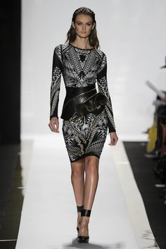 Hervé Léger by Max Azria RTW Spring 2014 Spring Fashion Trends, Runway Fashion, High Fashion, Max Azria, Spring Couture, Dressy Dresses, African Fashion, Dress To Impress, Spring 2014