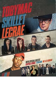 Lecrae Tobymac and Skillet + I would love to go to this concert!