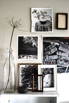 BW pics of pine trees, bark and cabins for X-mas | Wall Decor