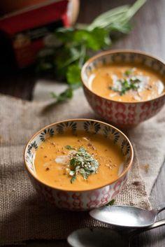 soupe butternut coco J'ai doublé la quantité de lait de coco, c'était délicieux !!!