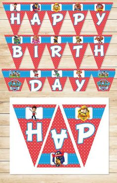 Free Printable Paw Patrol Birthday Banner | Red BG Theme ~ Free Paw Patrol Printables