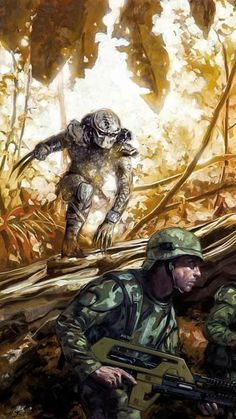 Top 10 Predator Comics of all time. Including classic comics like Batman vs. Predator, Predator: Big Game and Predator: Concrete Jungle. Alien Vs Predator, Predator Comics, Predator Alien, Science Fiction, Fiction Movies, Sci Fi Movies, Darkhorse Comics, King Kong, Caricatures