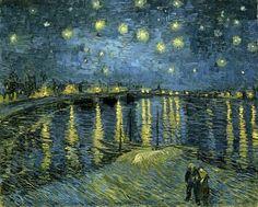 STARRY NIGHT OVER THE RHONE VAN GOGH CANVAS GICLEE POSTER ART PRINTVANGOGH #Impressionism
