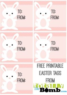 Free printable easter gift tags free printable easter and pastels easter gift tags negle Images