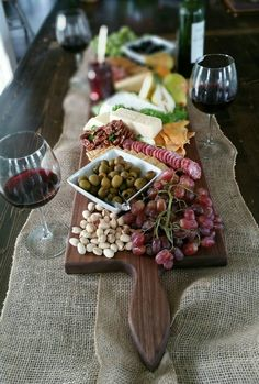 42 Inch- Extra Large Wooden Serving Platter- Cheese Board- in Walnut- by Red Maple Run Fish Recipes, Appetizer Recipes, Whole Food Recipes, Appetizers, Homemade Tacos, Homemade Taco Seasoning, Wooden Serving Platters, Charcuterie And Cheese Board, Cheese Boards