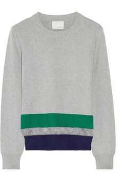 Band of Outsiders Striped Cotton-blend sweater
