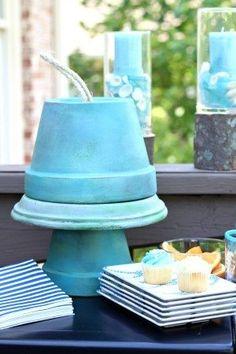 Garden party serve ware ideas for clay pots