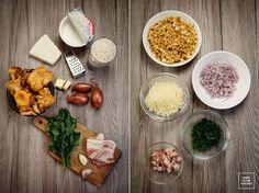 Risotto z kurkami i z boczkiem Risotto, Hummus, Ethnic Recipes, Kitchen, Food, Homemade Hummus, Cooking, Meal, Essen