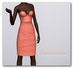 Imaginarium of Green: Corset dress, basic