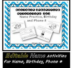 $ Bundle on Sale now!!! Editable Name Activities and Alphabet Slideshow