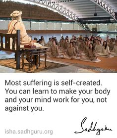 Most suffering is self-created. You can learn to make your body and your mind work for you, not against you. Free Guided Meditation, Mindfulness Meditation, Amazing Quotes, Best Quotes, Life Quotes, Mystic Quotes, Simply Life, Motivational Quotes, Inspirational Quotes