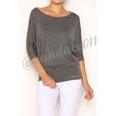 3/4 Sleeve Dolman Top (Charcoal) ✳️Bundle to save 15%!✳️ Rayon Modal: 95% Rayon, 5% Spandex Made in the USA Size Recommendations: S (2-4) M (6-8) L (10-12) XL (14-16) 2X (18-20) 3X (22-24) CC Boutique  Tops Tees - Short Sleeve