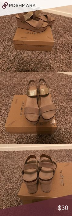Indigo Rd. Sandals Size 8 1/2 only worn once! indigo rd. Shoes Sandals