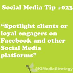 Spotlight your loyal customers and clients on your Social Media platforms. #SWTampa