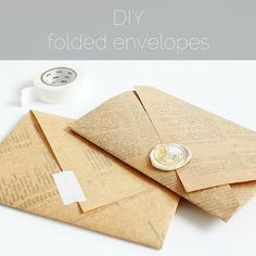 Learn how to make folded envelopes from any sheet of vintage paper, or any pretty paper that you like. The process involves using a ruler and lots of trial and error, but the joy is in the process …