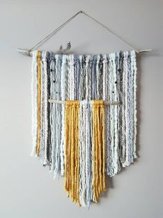 Excited to share the latest addition to my #etsy shop: Yarn Wall Hanging-Cream Yellow Yarn Hanging-Driftwood Yarn Hanging-Boho Nursery-Tapestry-Fringe Wall Hanging-Neutral Nursery #driftwood #yarnwallhanging #bohowallart #tribalnursery #tapestry #fringewallhanging http://etsy.me/2oUytDA