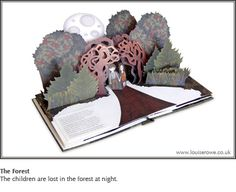 Hansel and Gretel - pop-up books by Lousie Rowe. *loves*