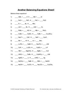 Balancing Equations Worksheet Template Worksheet Balancing Equations  Answers Worksheets For School .