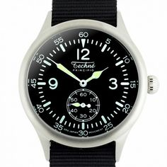 Techné Merlin 245.023 Watch With Black NATO Style Nylon Strap