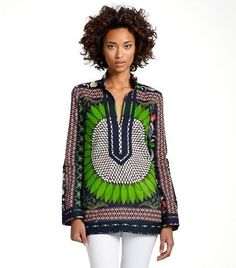 For practical spirit-guided fashion. Can't wear glitter and gowns when walking the dog. ;) Tunic from ToryBurch.com