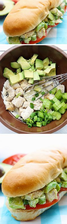 Chicken Avocado Sandwich   Click Pic for 18 Healthy School Lunch Ideas for Kids   No Heat Lunches to Take to Work