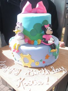 Daisy Duck and Minnie Mouse Disney Cake by brookwhisler, via Flickr
