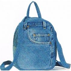Men's Blue Indigo Denim Backpack | Bags, Style and Poodle puppies