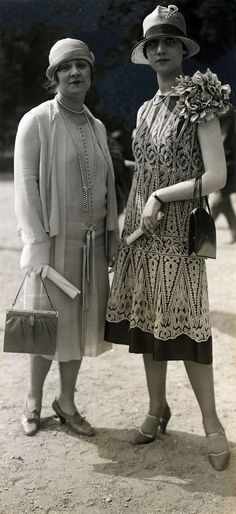 Auteuil, France, 1926. This look is the birth of modern fashion that is still in a variation with us today. Are Ladies photographed at the Races today really so very different? M de  L.