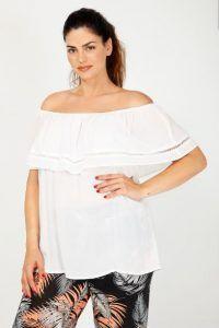 21d6777fab20 Γυναικεία Plus size ρούχα Parabita για το καλοκαίρι από 10 | Plus size -  Ρούχα μεγάλα μεγέθη! (XXL) | Off shoulder blouse, Tops και Blouse