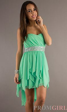 I have this dress in bkue and white and it is a little bit more longer