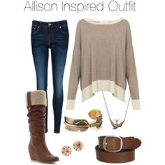 """Teen Wolf - Allison Inspired Outfit"" by stardustonthepiano on Polyvore"