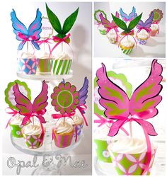 Pixie Tinkerbell Printable Party Cupcake Wrappers by OpalandMae, $10.00