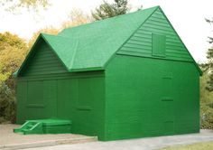 green monopoly house