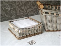 Елена Николаева Baskets On Wall, Wicker Baskets, Gift Baskets, Newspaper Basket, Paper Weaving, Sewing Baskets, Flower Girl Basket, Wicker Furniture, Easter Baskets