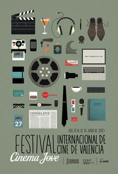 27th Cinema Jove Film Festival Valencia-based design studio Casmic Lab was commissioned to develop an extensive campaign design for the 27th Cinema Jove Film Festival in 2012.