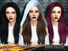 Frostbyte hair by Ade_Darma at TSR via Sims 4 Updates