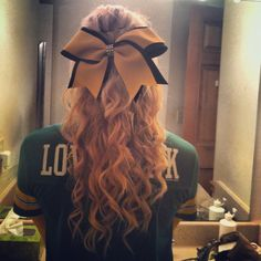 Cheer hair #cheerleading #bow