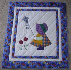 Sunbonnet Sue Quilt Designs   sunbonnet sue evalyn quilt return to teri s quilts