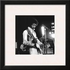 Jimi Hendrix Framed Art Print at Art.com