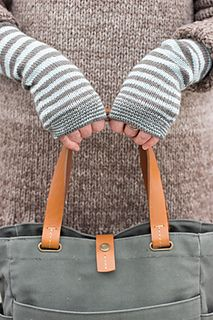 Accelerating Stripes Fingerless Gloves by Churchmouse Yarns & Teas - use the stripes pattern for a baby hat