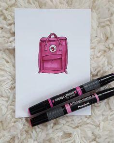 Bullet Journal September, Bullet Journal Inspo, Bullet Journals, Backpack Drawing, Drawing Bag, Markers, Hello 2017, Doodles, Old Things