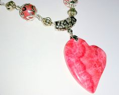 Rhodochrosite a Stone of Love and Balance by 2GIRLSINTROUBLE on Etsy