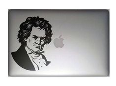Ludwig van Beethoven with grin smile and blinking eye - Decal Sticker for Apple Macbook and other Laptops | Funny laptop decal | Music by BrutalVisual    4.90 EUR  Ludwig van Beethoven (baptised 17 December 1770  26 March 1827) was a German composer and pianist. A crucial figure in the transition between the Classical and Romantic eras in Western art music he remains one of the most famous and influential of all composers. His best-known compositions include 9 symphonies 5 piano concertos 1…
