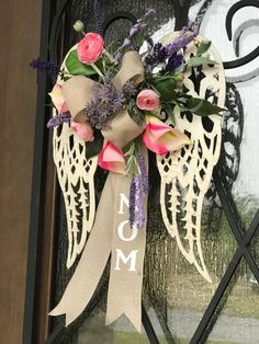 angel wings for memorial wreath, remembrance funeral grave site angel wings wreath - Modern Funeral Spray Flowers, Funeral Sprays, Grave Flowers, Cemetery Flowers, Wreaths For Funerals, Cemetary Decorations, Funeral Floral Arrangements, Cross Wreath, Memorial Flowers