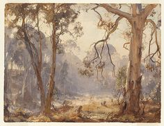 Hans HEYSEN, not titled [The clearing, early morning].